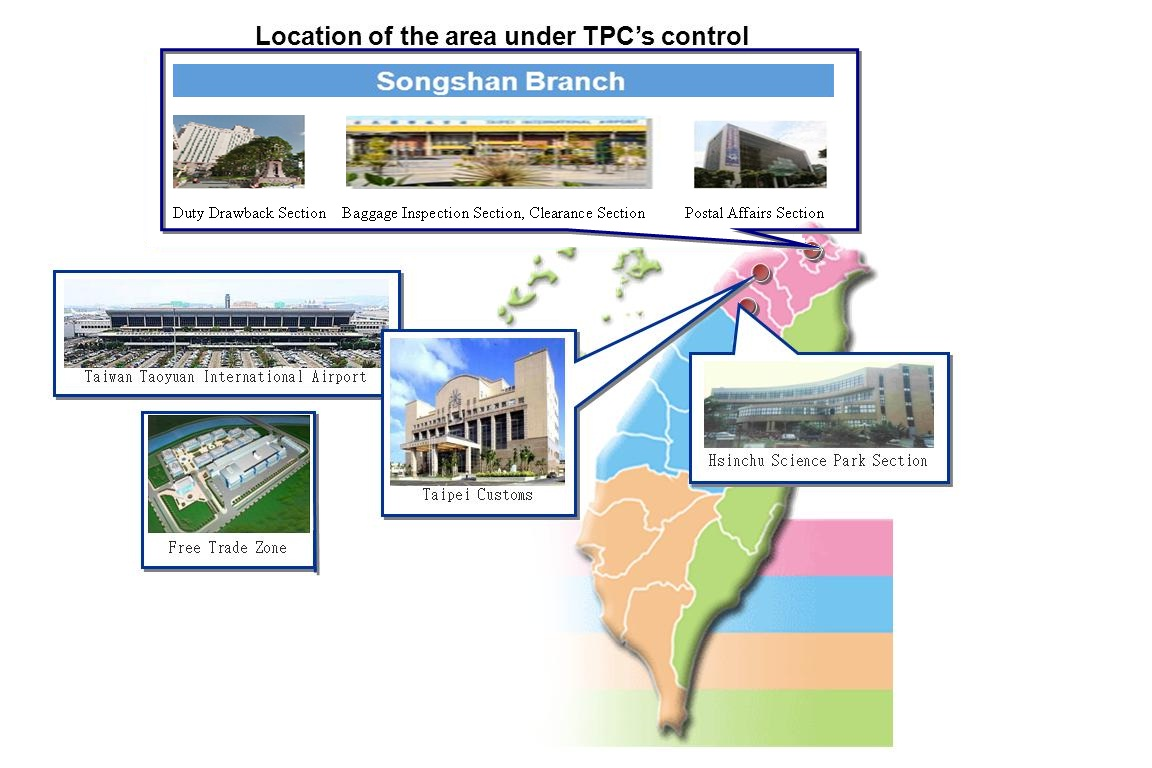 Location of area under TPC's control